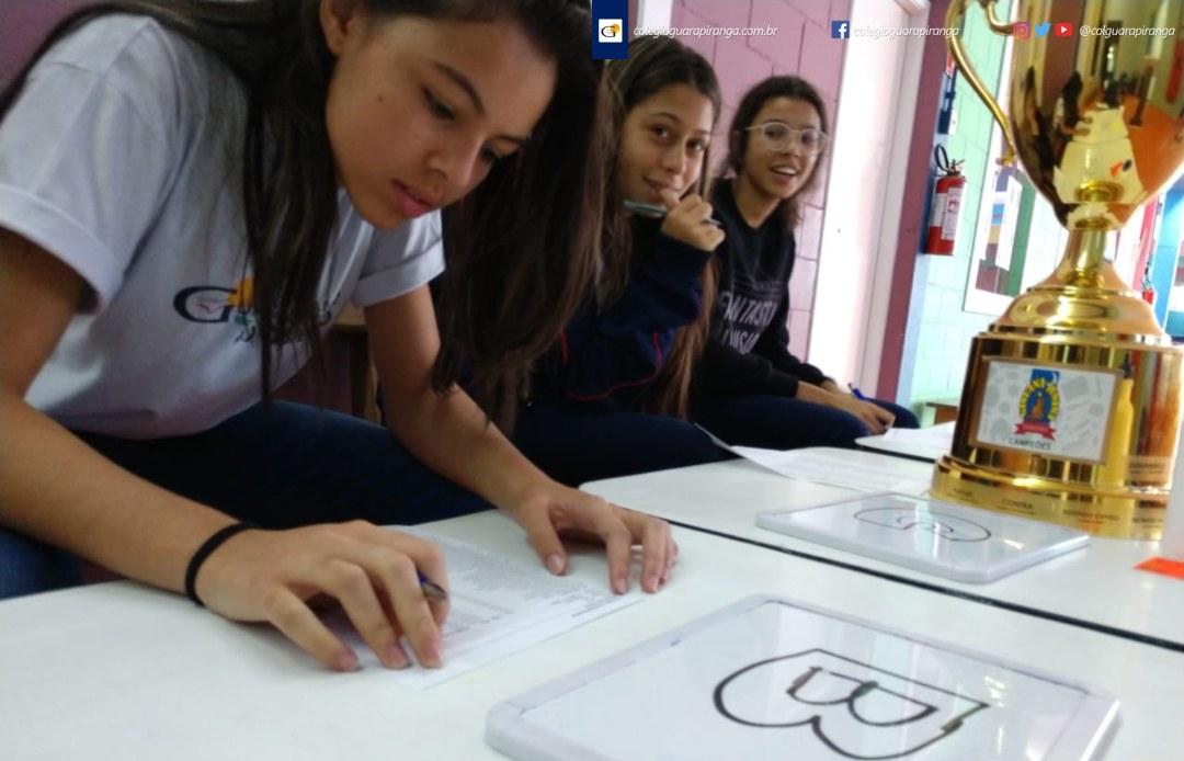 <p>Com o objetivo de integrar alunos, pais, professores e funcionários por meio de uma atividade cultural, o Colégio Guarapiranga organiza mais uma vez a Gincana Junina Guarapiranga – Edição 2019. Participam alunos do Ensino Fundamental II e Ensino Médio divididos em 3 equipes com as cores (Azul A, Amarela B [&hellip;]</p>